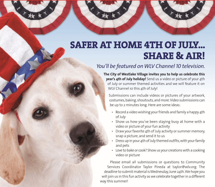 Safer At Home 4th July